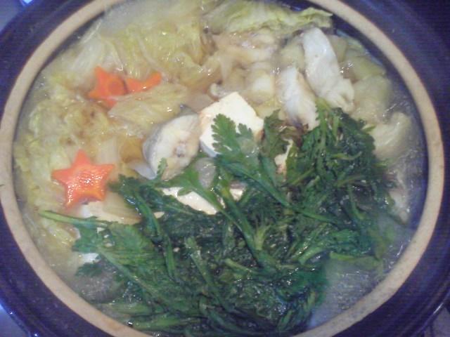 鱈のお鍋。
